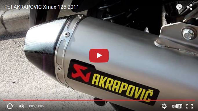 silencieux akrapovic sur yamaha x max 125 actualit s maxiscooter par maxiscooter mag. Black Bedroom Furniture Sets. Home Design Ideas