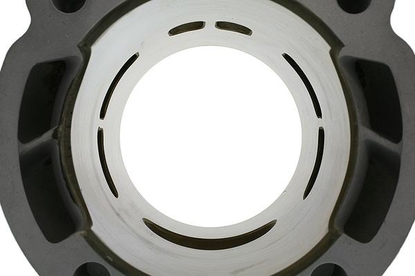 6 transferts d'admission et une large lumière d'échappement simple ovale